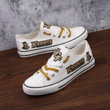 Novelty Design UCF Knights Shoes Low Top Canvas Shoes-Shoes-4 Fan Shop