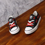 Novelty Design Georgia Bulldogs Shoes Low Top Canvas Shoes-Shoes-4 Fan Shop
