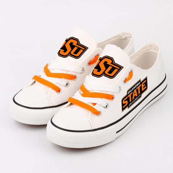Novelty Design Oklahoma State Shoes Low Top Canvas Shoes-Shoes-4 Fan Shop