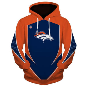 buy popular bd5fe 71166 New Design NFL Hoodies 3D Denver Broncos Hoodies Sweatshirt Pullover