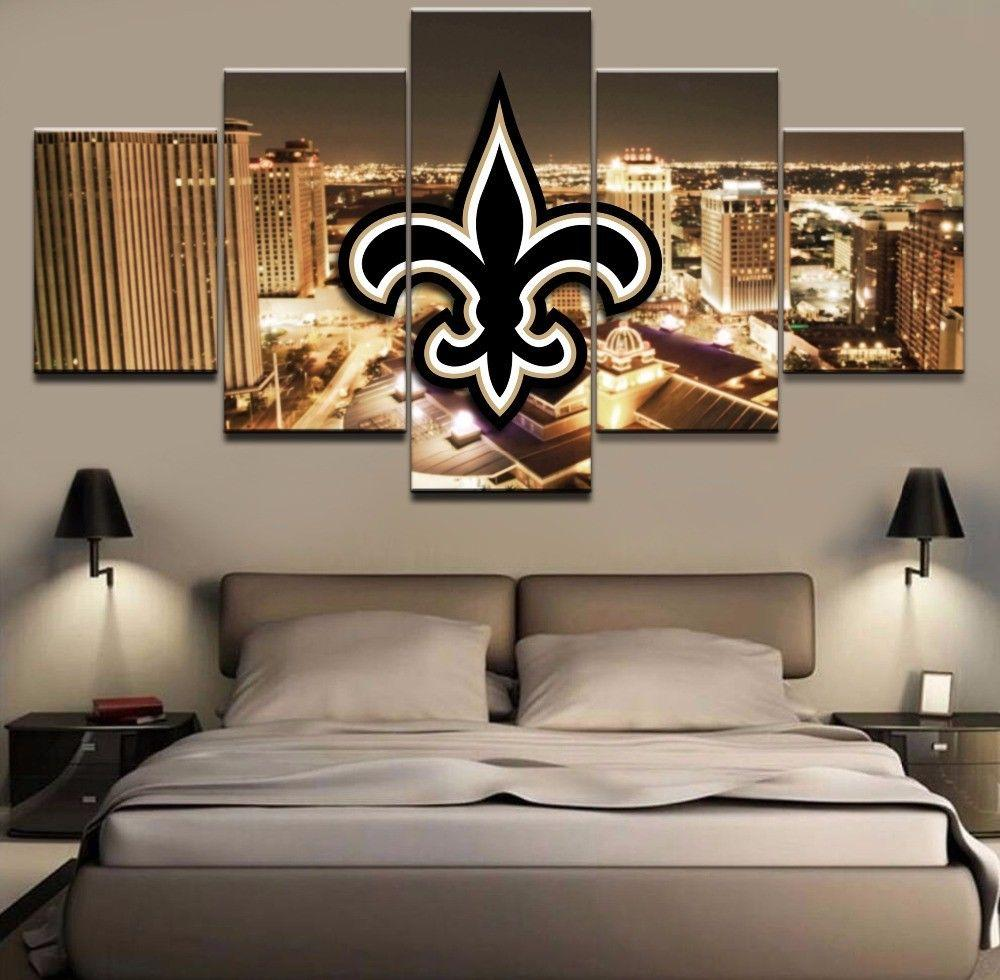 New Orleans Saints Wall Art Cheap For Living Room Wall Decor Night