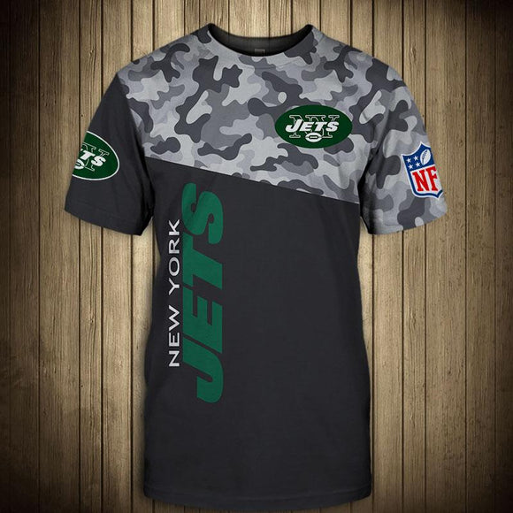 New York Jets Military T Shirt 3D Short Sleeve-T shirt-4 Fan Shop