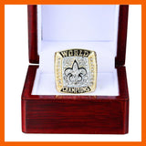NFL Football 2009 New Orleans Saints Championship Ring Color Gold-Ring-4 Fan Shop
