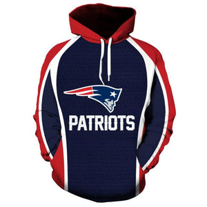 4191e689 NFL Football New England Patriots 3D Hoodie Sweatshirt Jacket ...