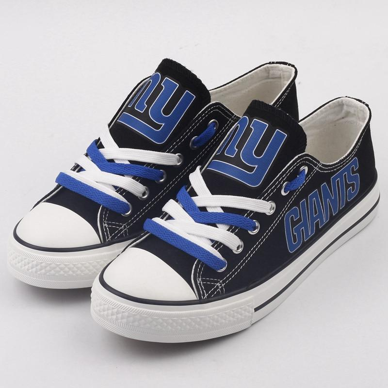 New York Giants Shoes Letter Glow In The Dark Shoes Cheap Laces