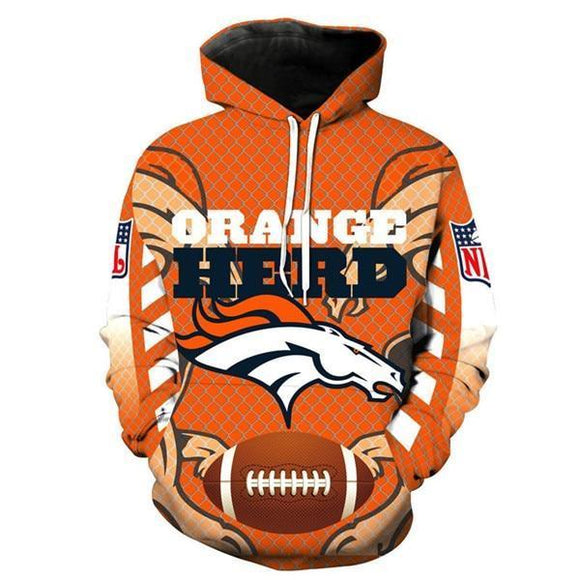 reputable site 76823 46991 NFL Hoodies 3D Denver Broncos Hoodies For Sale Sweatshirt Jacket Pullover