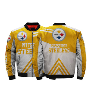 online store 9f439 3975f NFL Jacket Men Cheap Pittsburgh Steelers Bomber Jacket For Sale