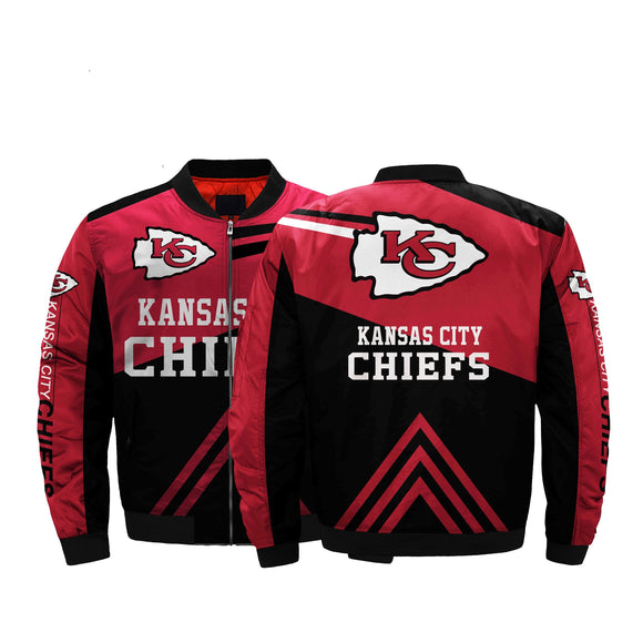 NFL Jacket Men Kansas City Chiefs Bomber Jacket For Sale Plus Size-jacket-4 Fan Shop