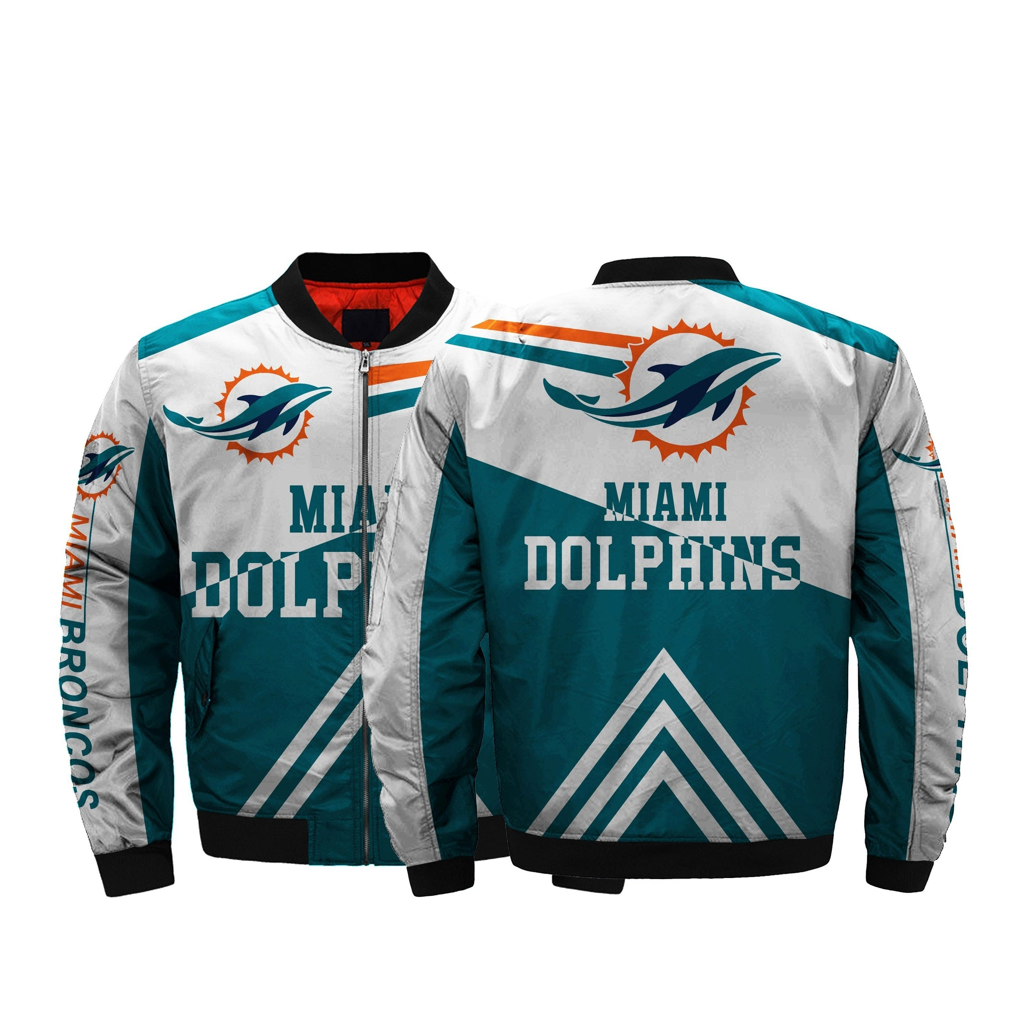 free shipping ee927 fde40 The Best Cheap NFL Jacket Men Miami Dolphins Bomber Jacket ...