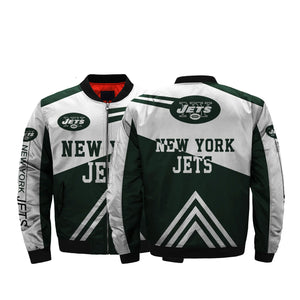 finest selection 95998 4b3fc NFL Jackets Men Cheap New York Jets Bomber Jacket For Sale ...