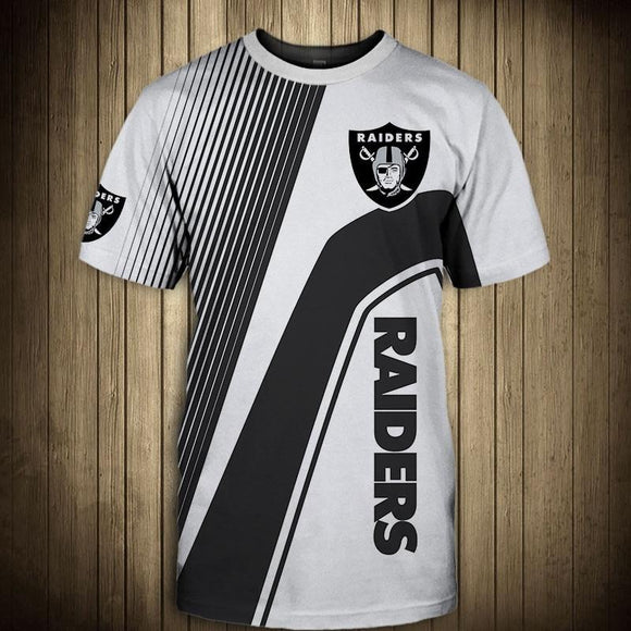 NFL T shirt 3D Custom Oakland Raiders T shirts Mens Cheap For Fans-T shirt-4 Fan Shop
