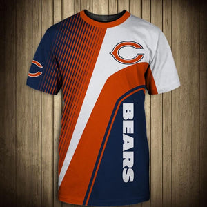 NFL T shirt For Sale 3D Custom Chicago Bears T shirts Cheap For ...