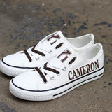 Novelty Design Cameron Yoemen Shoes Low Top Canvas Shoes-Shoes-4 Fan Shop