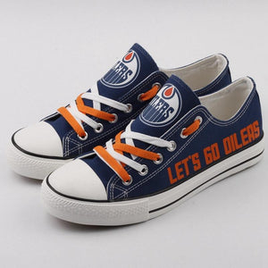 Low Price NHL Shoes Custom Edmonton Oilers Shoes For Sale Super Comfort-Shoes-4 Fan Shop