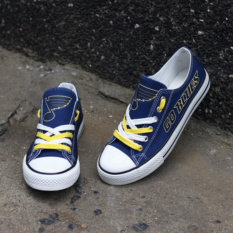 Cheap Price St Louis Blues Shoes For Sale Letter Glow In The Dark Shoes Laces