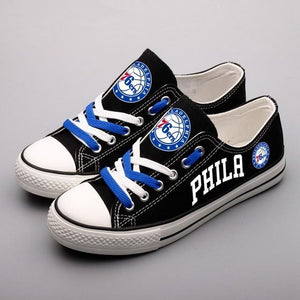 NBA Shoes Custom Philadelphia 76ers Shoes Limited Letter Glow In The Dark Shoes Laces-Shoes-4 Fan Shop