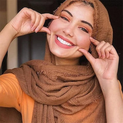 Women Soft Cotton Crinkle Hijab