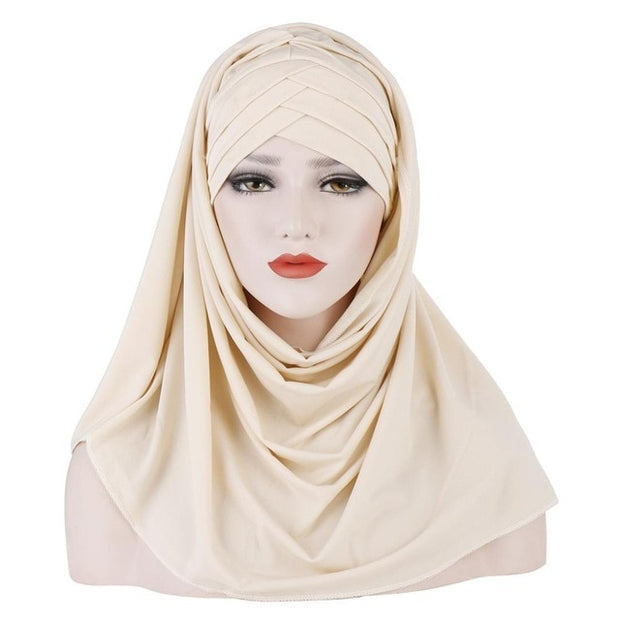 Plain Soft Cotton Hijab