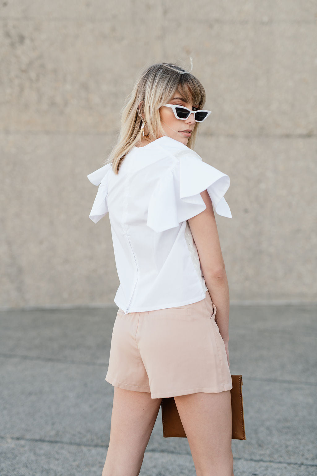 Light Pink Panel shorts