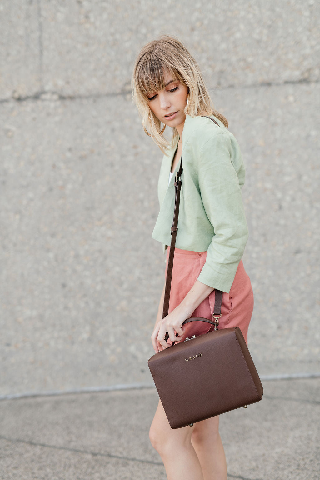 Olivia Croped Jacket Green
