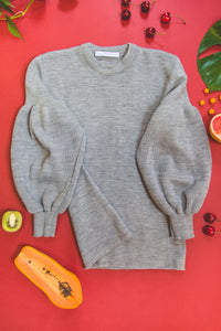 SILVER GREY BUBBLE KNIT JERSEY (REGULAR LENGHT)