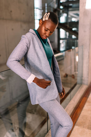 Becky Linen Tailored Blazer