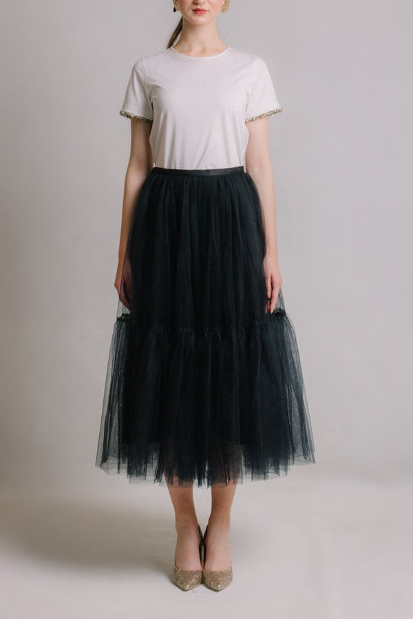 The Prelude - Black Tulle Skirt