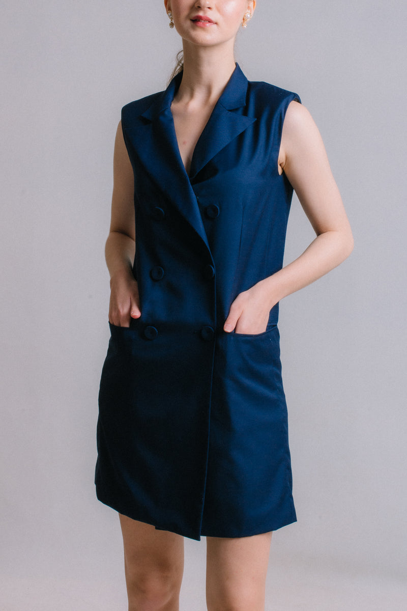 The Prelude - Navy Blue Suit Dress