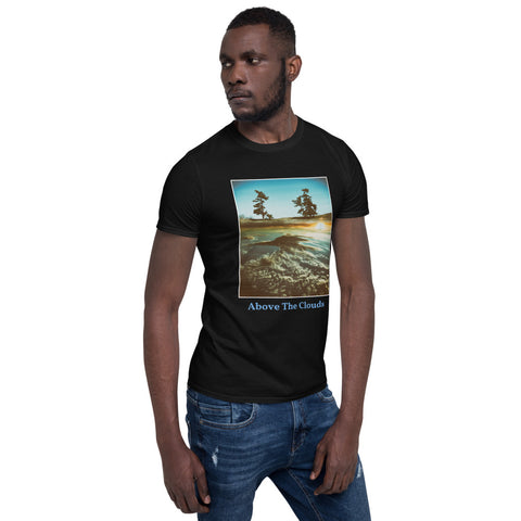 'Above The Clouds' Short-Sleeve Unisex Titled T-Shirt by Jon Butler