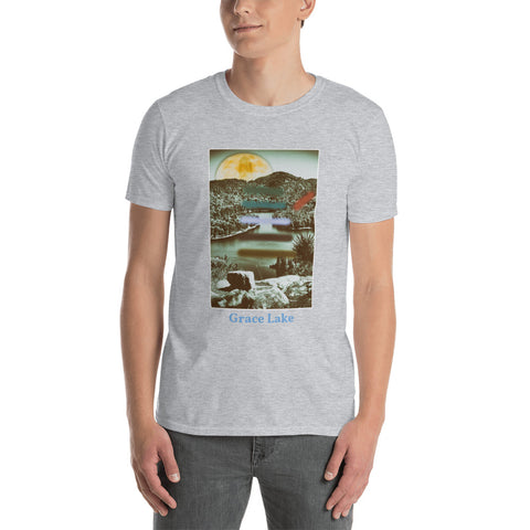 'Carmichael Wrote' Short-Sleeve Unisex Grace Lake T-Shirt by Jon Butler