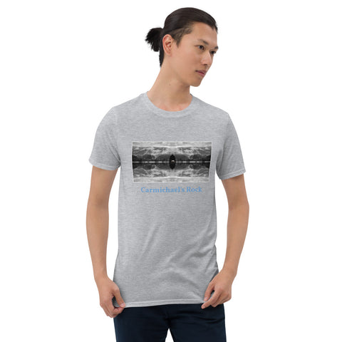 'Carmichael's Rock' Short-Sleeve Unisex Titled T-Shirt by Jon Butler