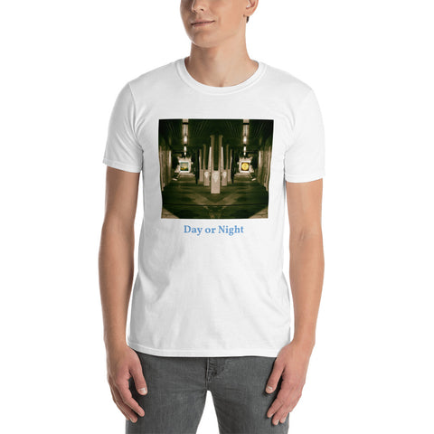 'Day or Night' Short-Sleeve Unisex T-Shirt by Jon Butler