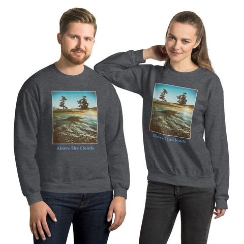 'Above The Clouds' Unisex Titled Sweatshirt by Jon Butler
