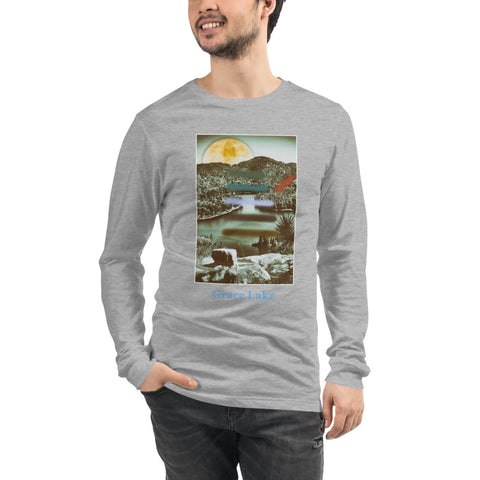 'Carmichael Wrote Unisex Long Sleeve Grace Lake Tee by Jon Butler