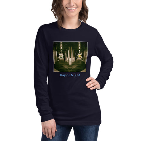 'Day or Night' Unisex Long Sleeve Tee by Jon Butler