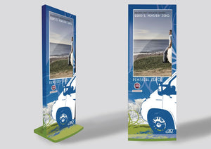"MEL 55"" Indoor Digital Signage Display Totem"