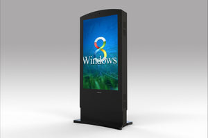 "MECO 82"" Outdoor Interactive Digital Signage Display Totem"