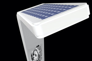 "MELa -s Full Solar Powered Street Light with 32"" E-paper Solution"