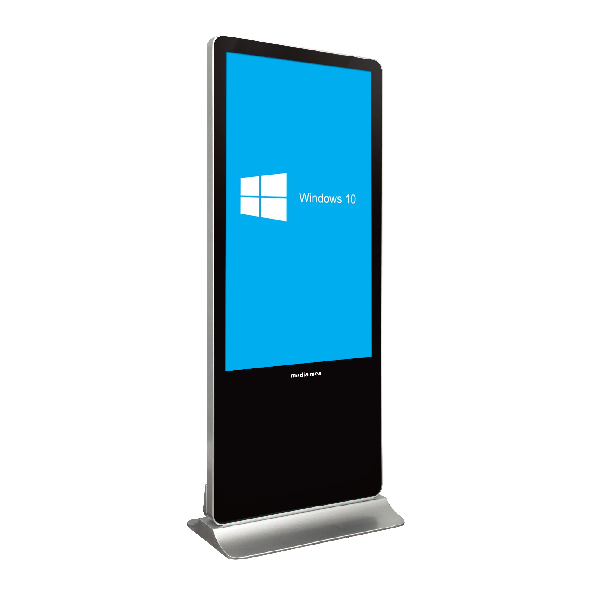 MEZ 49 Indoor Interactive Digital Signage Display Totem with Embedded i5 PC 10 Points PCAP Touch Screen and an HD IP Camera.