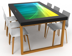"MEWLA 70"" Indoor Interactive Digital Table."