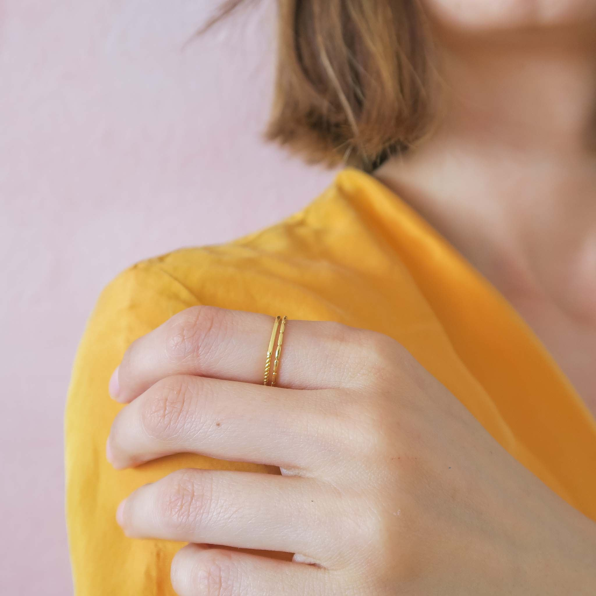 Super thin ring stacking idea