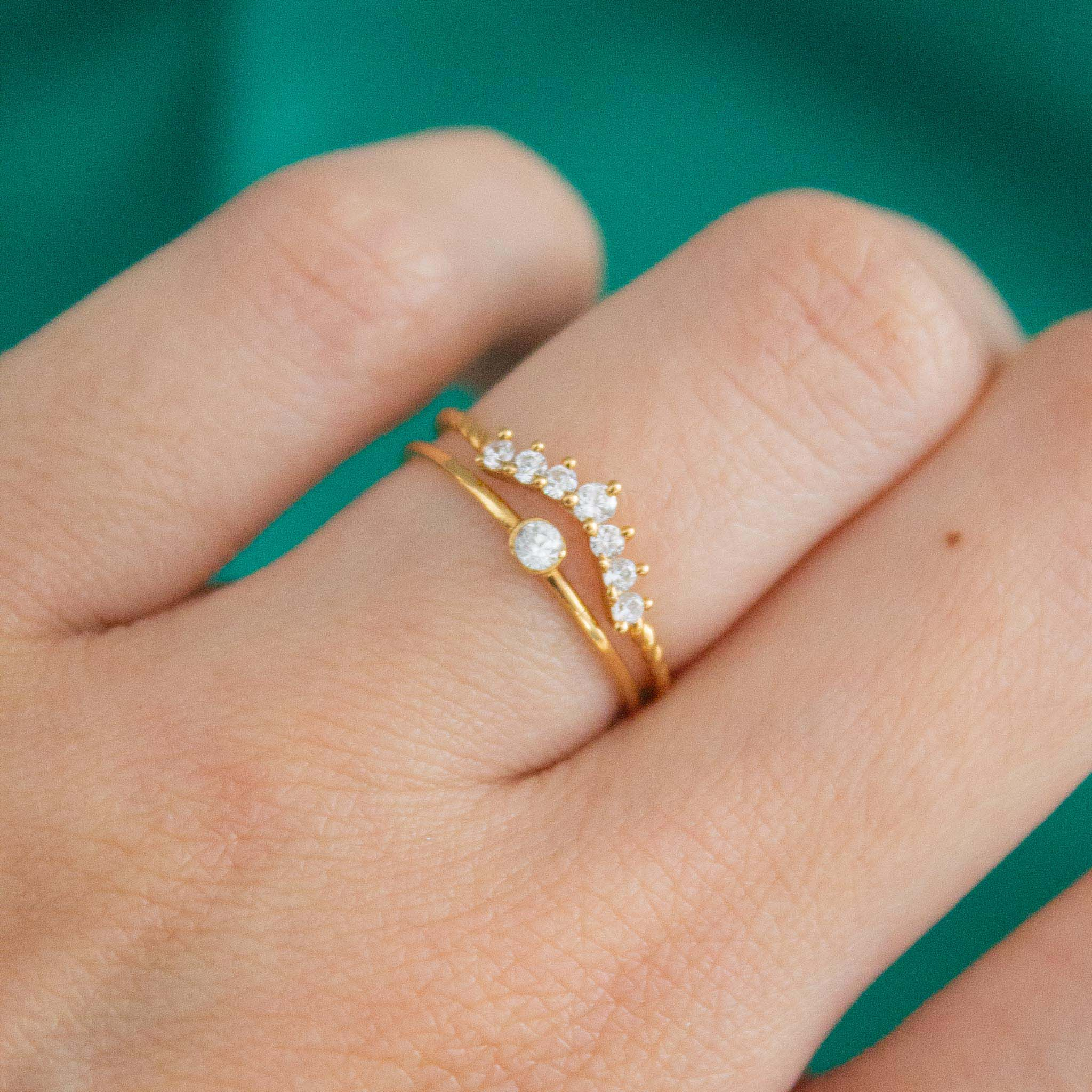 Engagement ring stacking ideas
