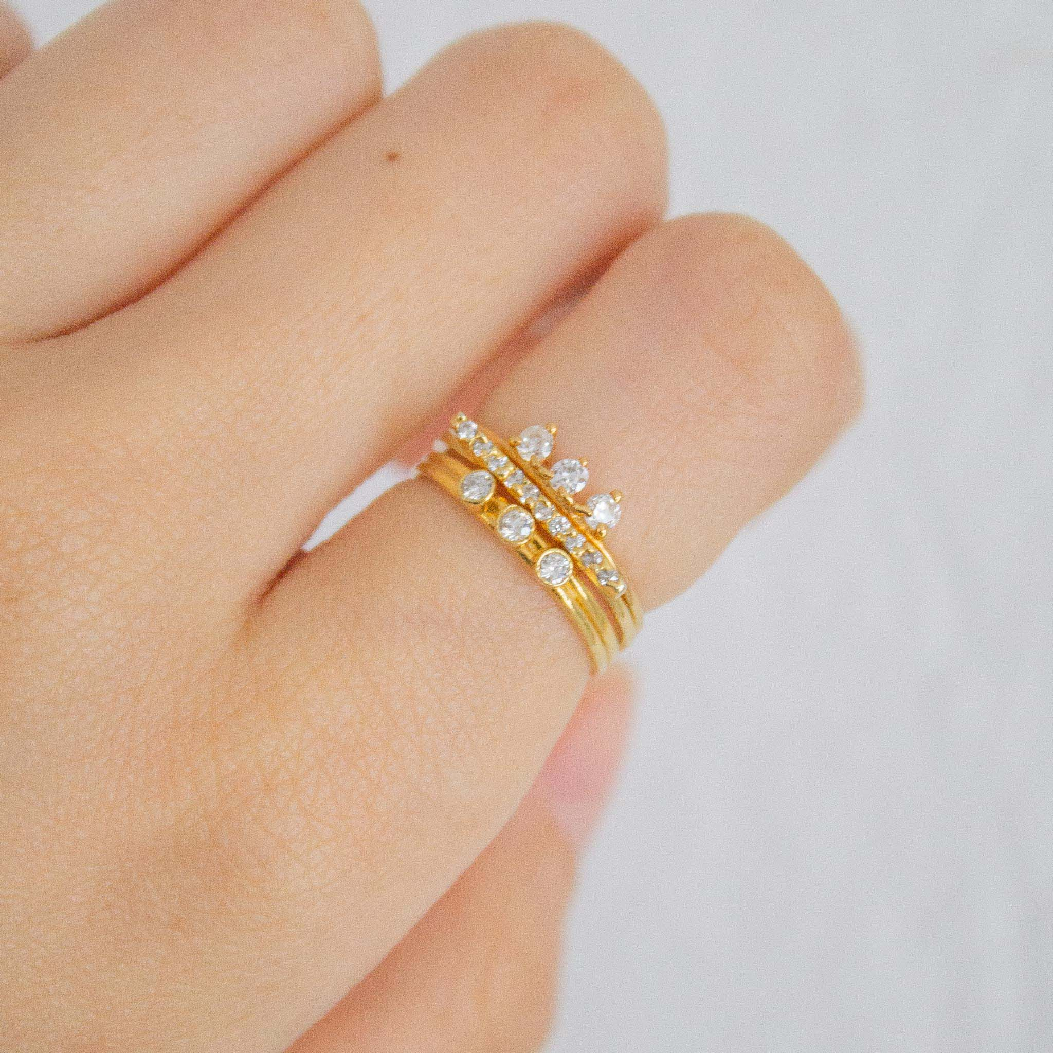 gold ring stacking ideas