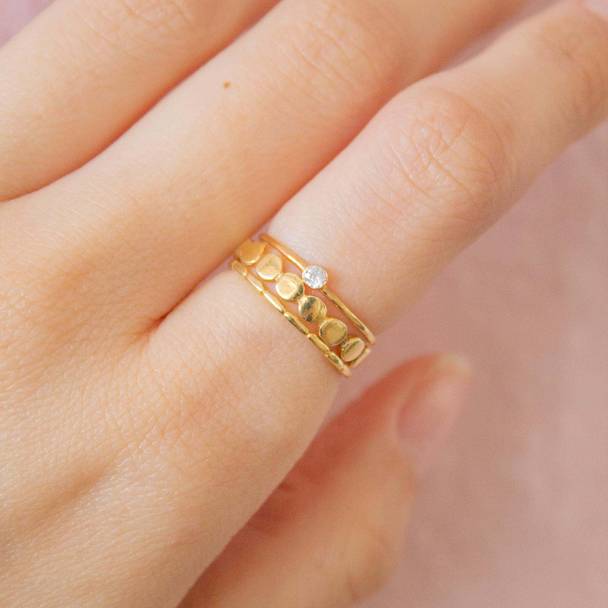 Solitaire ring stacking ideas