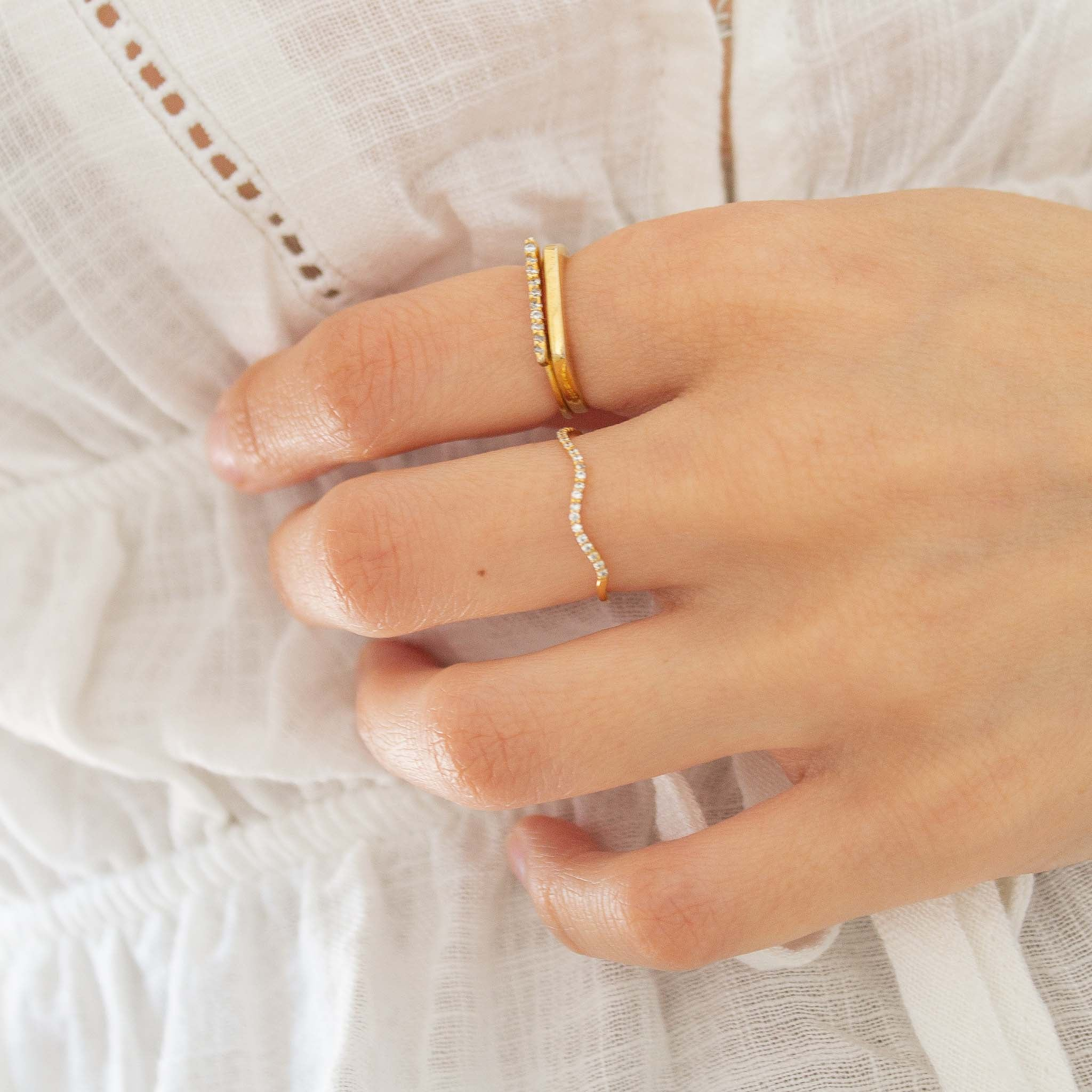 Dainty celestial ring stack