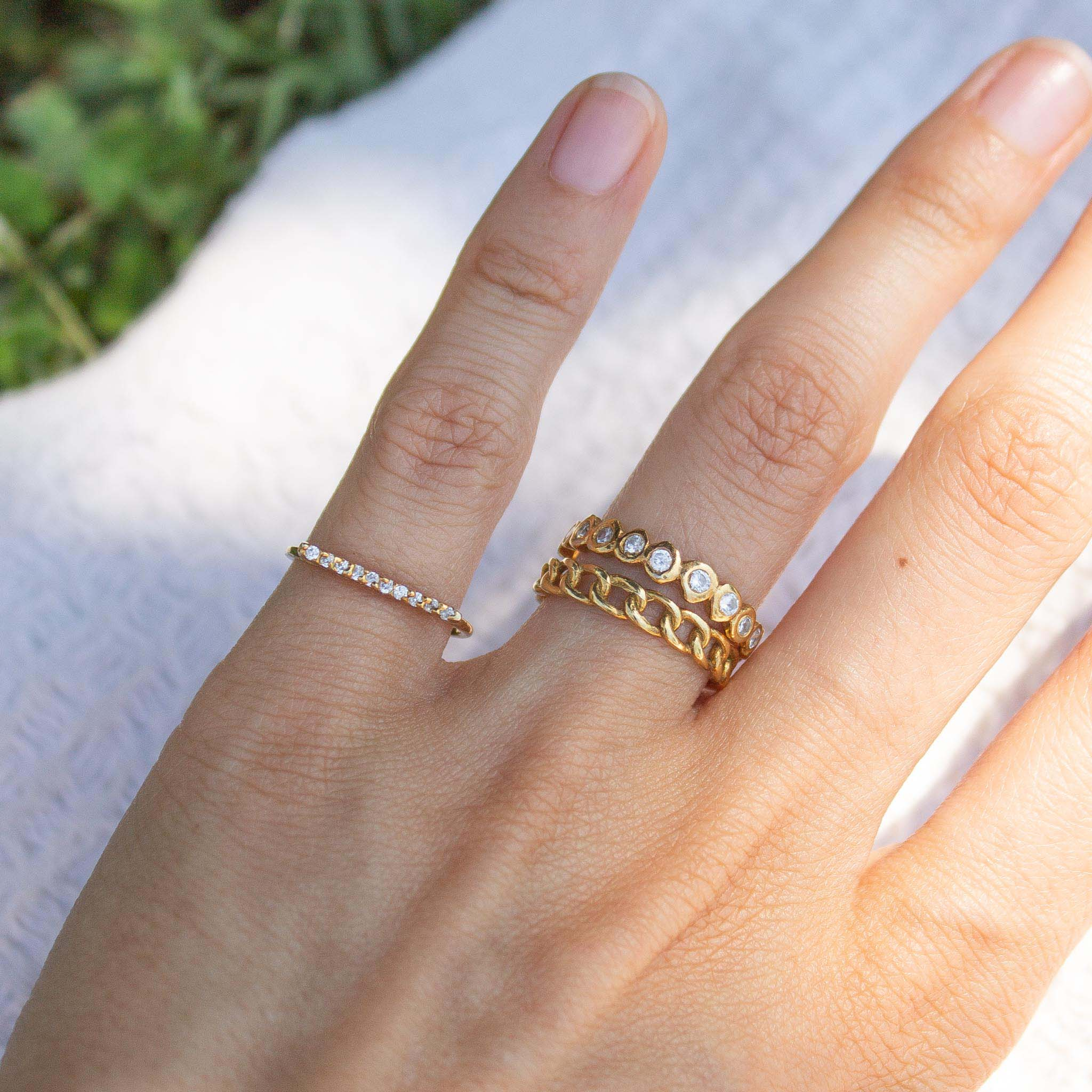 Sparkly stacking ring idea