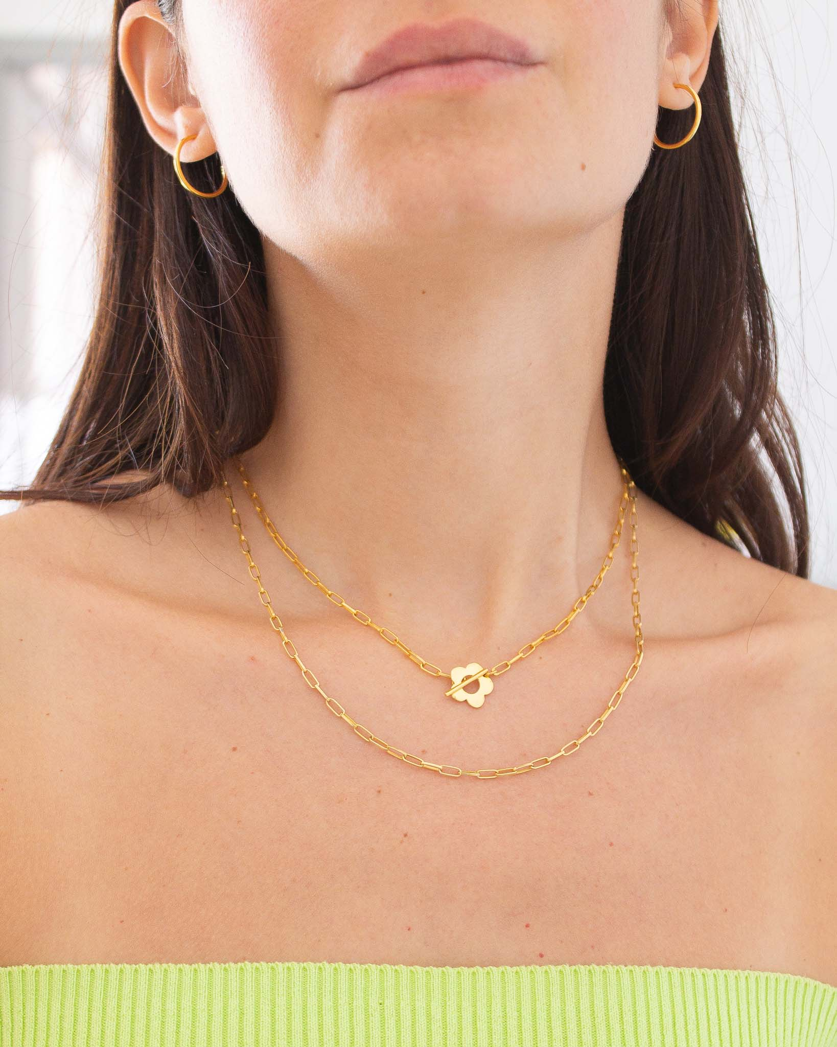 Daisy blossom layered look necklaces