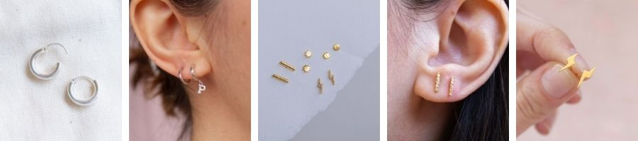 Four dainty earring stacking ideas