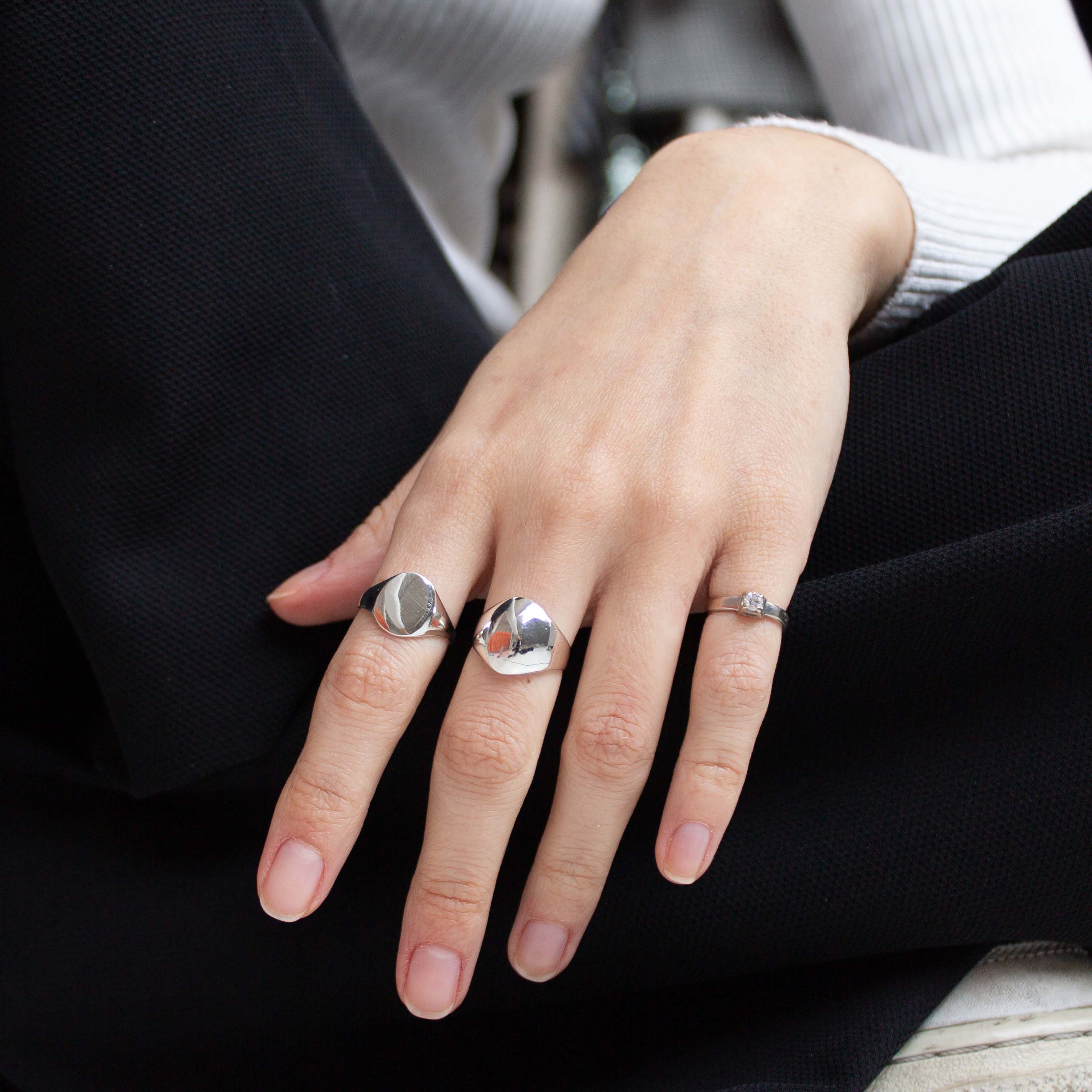sterling silver ring stacking ideas