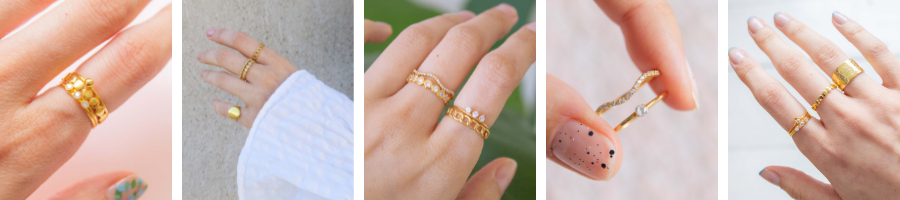 ring stacking ideas solid gold & vermeil